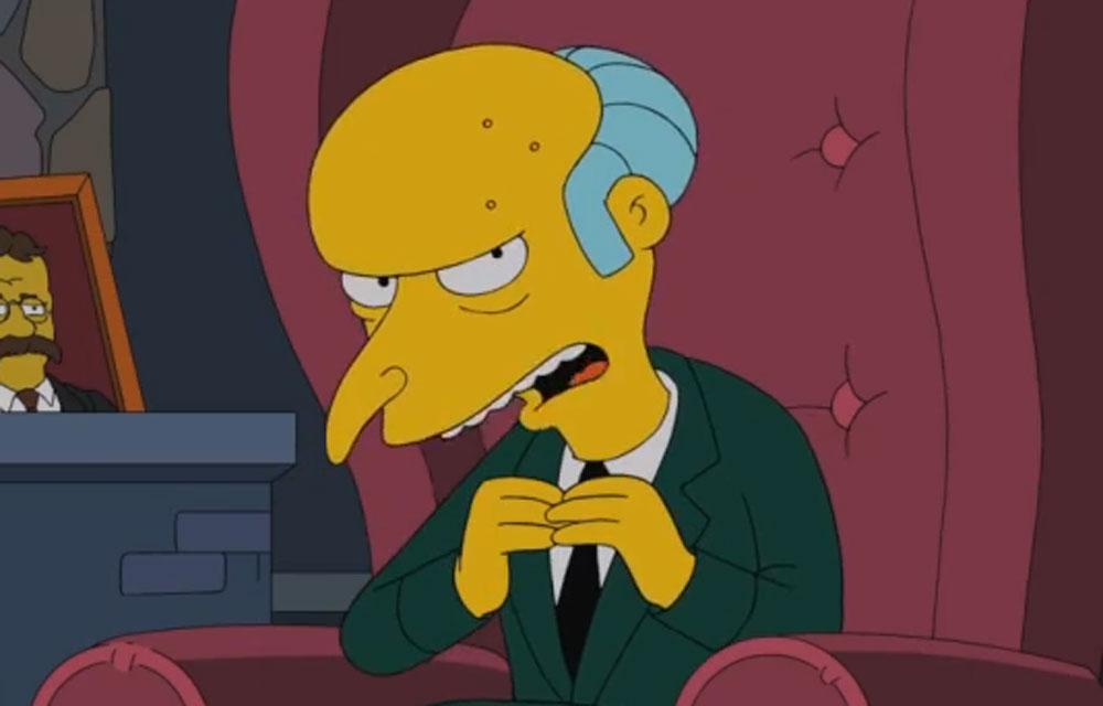 Simpsons : Monsieur Burns vote Romney
