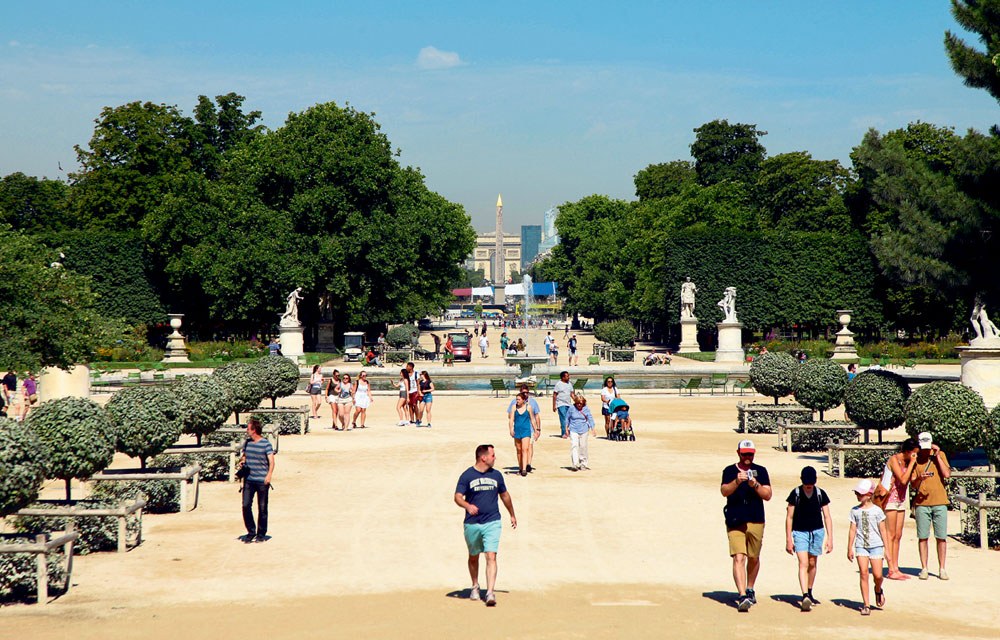 Le Jardin Des Tuileries Lutte Contre Le Sable