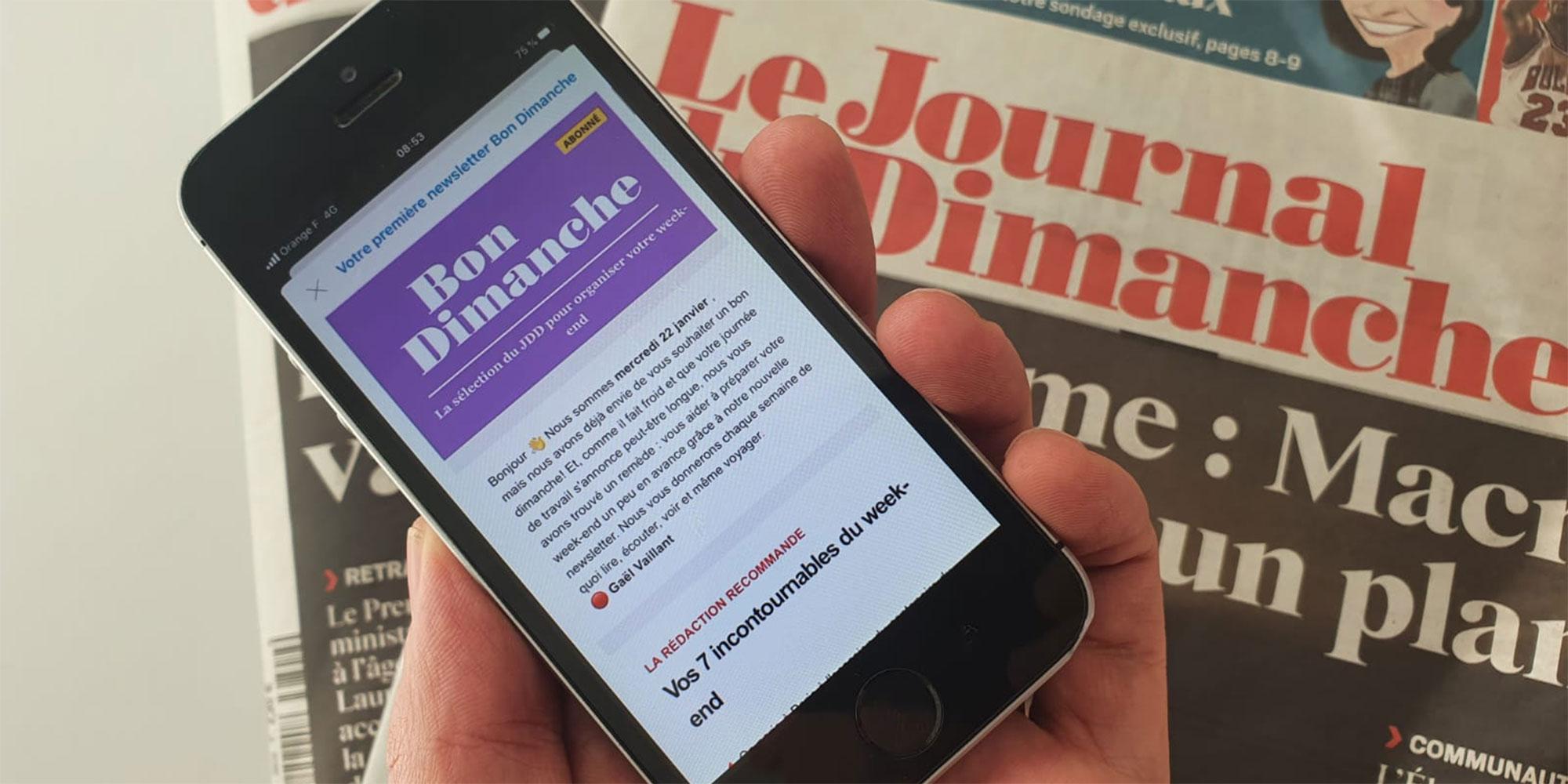 """Découvrez """"Bon Dimanche"""", la nouvelle newsletter du JDD pour vous aider à préparer votre week-end"""