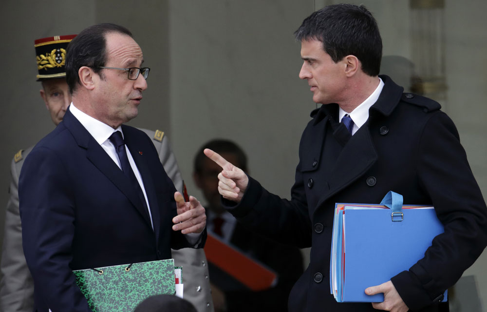 Baromètre JDD : Hollande et Valls, la rechute