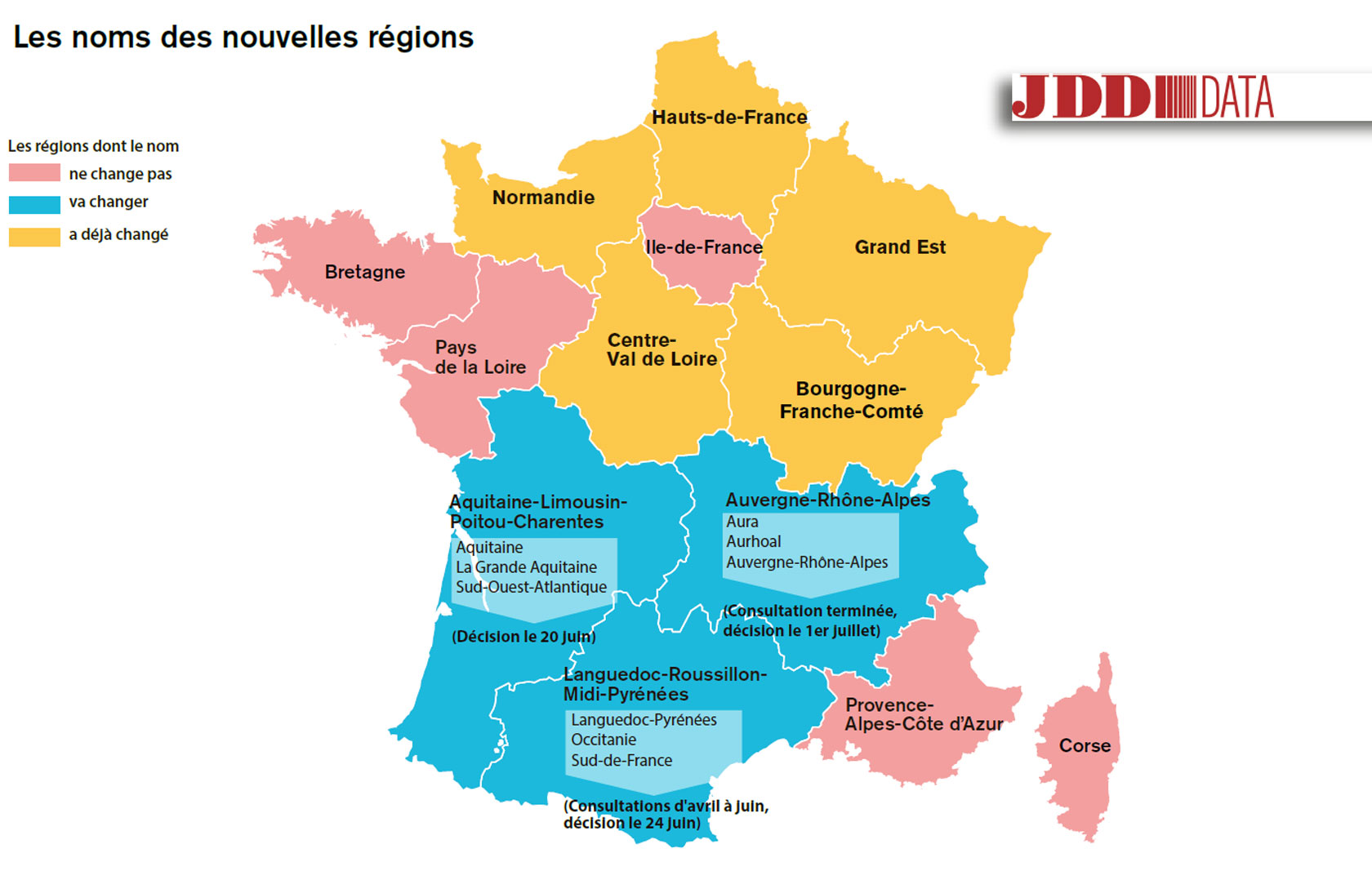 "CARTE. L'Alsace-Champagne-Ardenne-Lorraine se rebaptise ""Grand Est"""