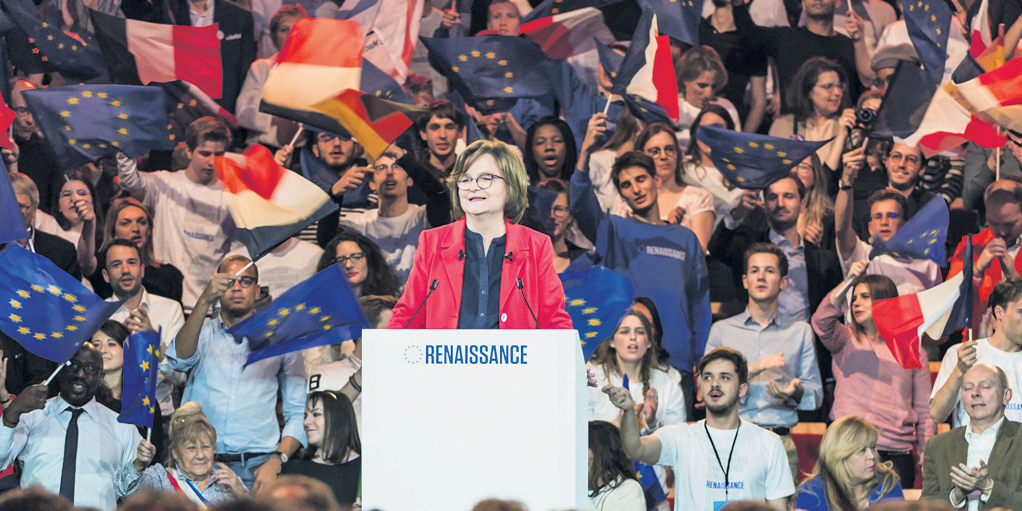 first meeting for Enmarche and Nathalie Loiseau