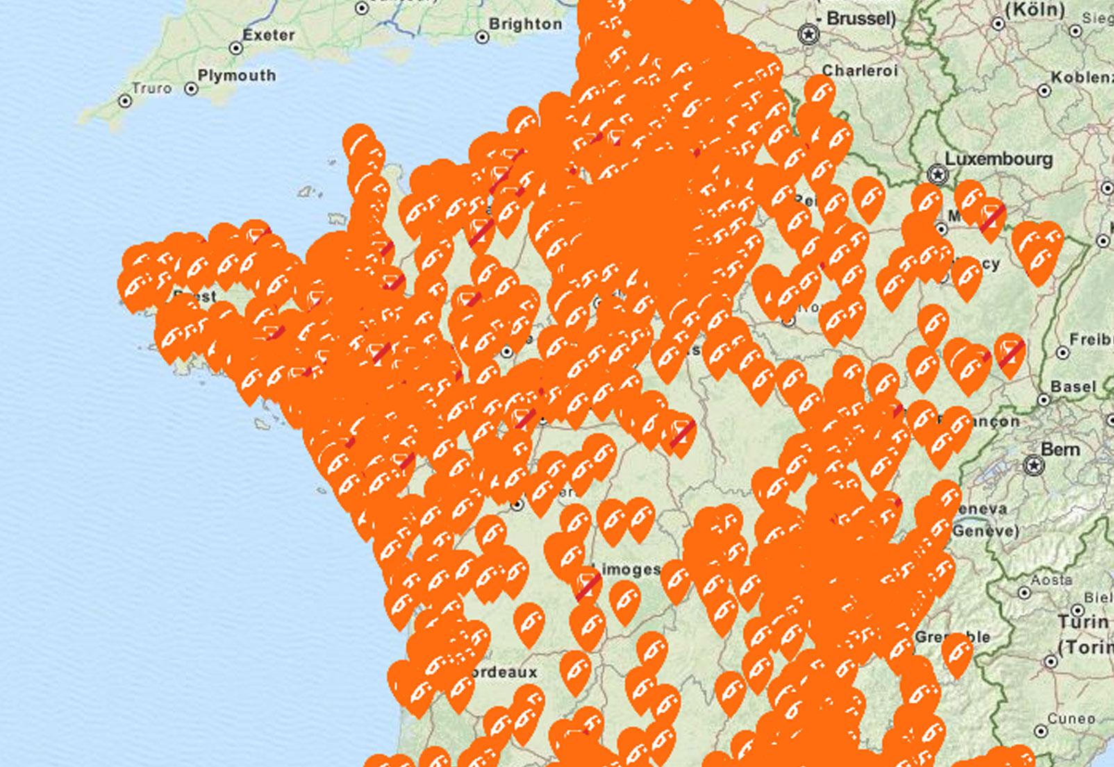 penurie de carburant carte CARTE. Suivez la pénurie de carburants en France en temps réel